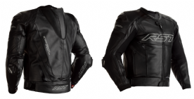 RST Tractech Evo R Black Leather Jacket
